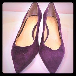 Purple suede kitten heel by Nine West